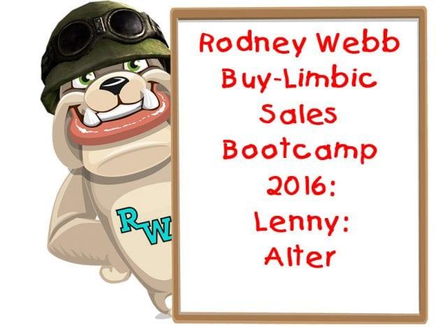 Rodney Webb Bootcamp 2016 6: Lenny: Alter course image