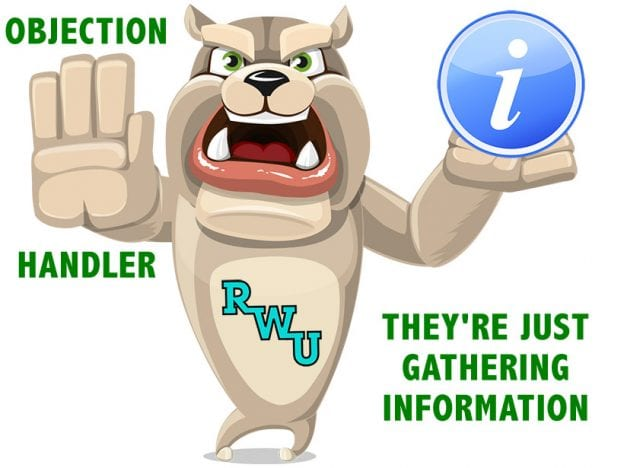 Rodney Webb Objection Handler  4: They're Just Gathering Information course image