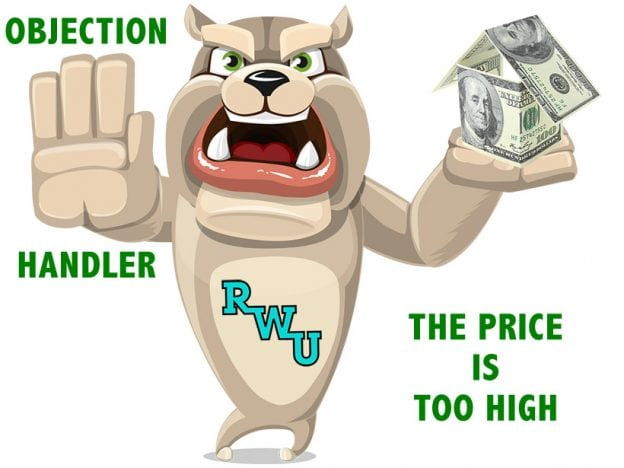 Rodney Webb Objection Handler  5: The Price is Too High course image