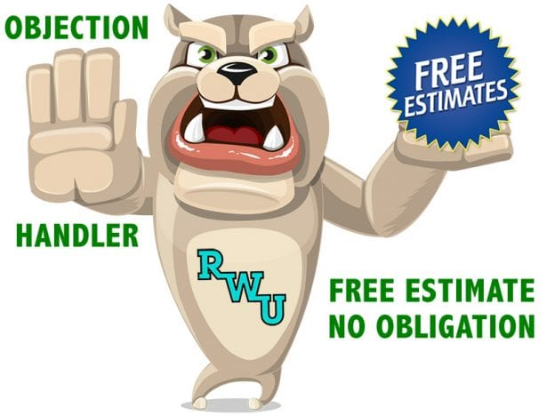 Rodney Webb Objection Handler 10: Free Estimate, No Obligation course image
