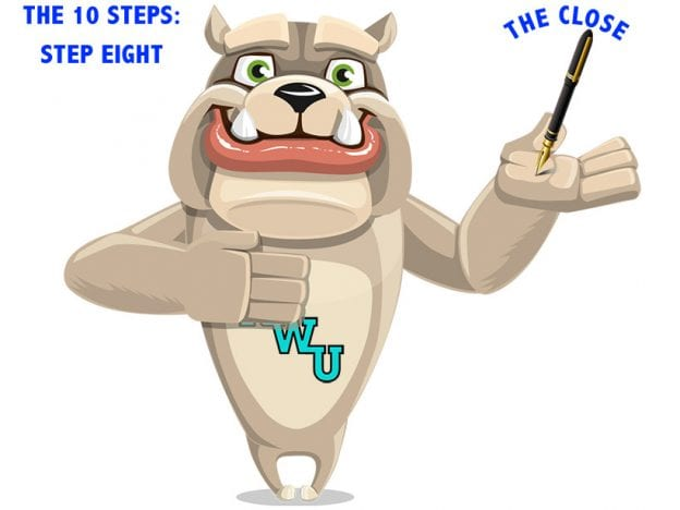 Rodney Webb the Ten Steps: Step 8: The Close course image